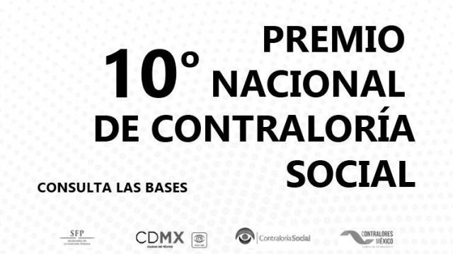 Convocatoria 2018 10° Premio Nacional de Contraloría Social