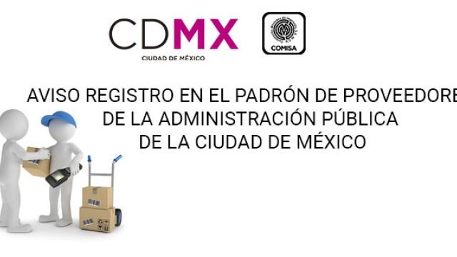 Registro en el  Padrón de Proveedores  de la  Administración Pública CDMX